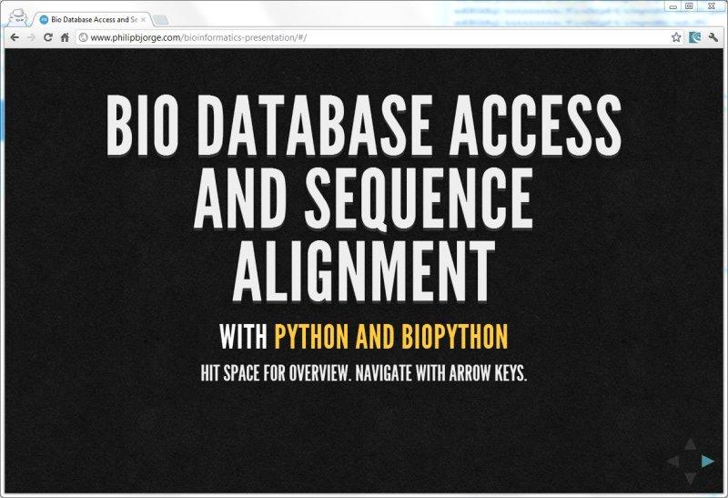 BioPython Presentation