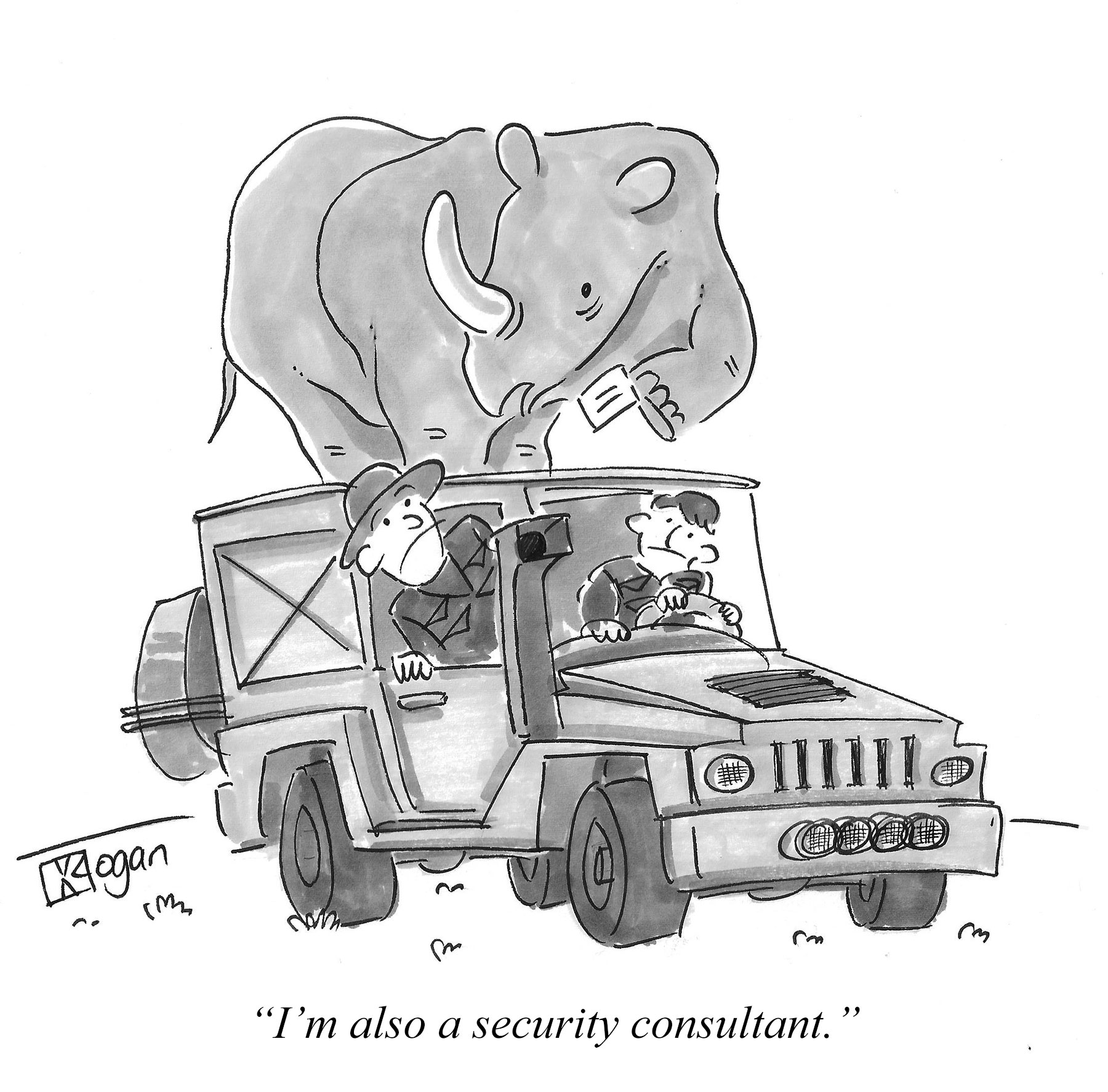 I'm also a security consultant.