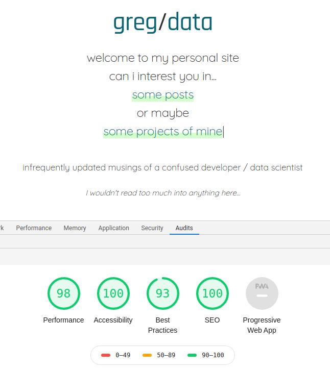 greg on data lighthouse results
