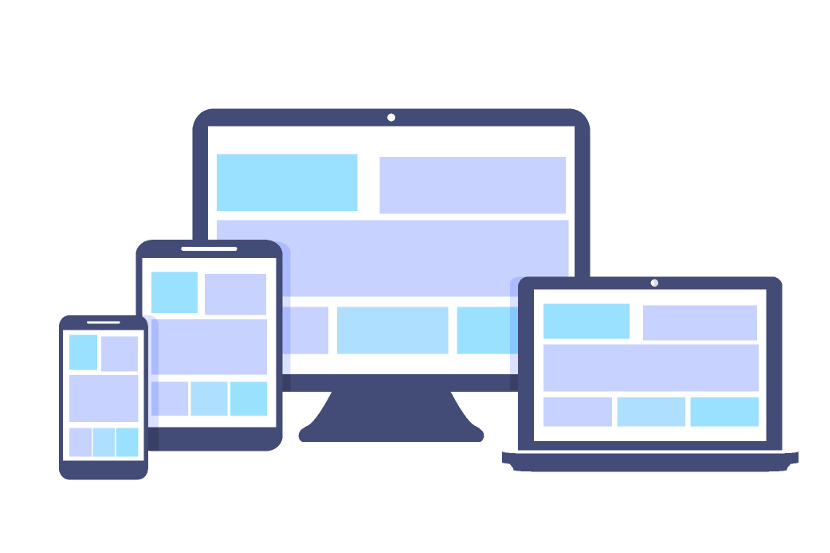 a web application displayed on desktop, laptop, tablet and mobile devices