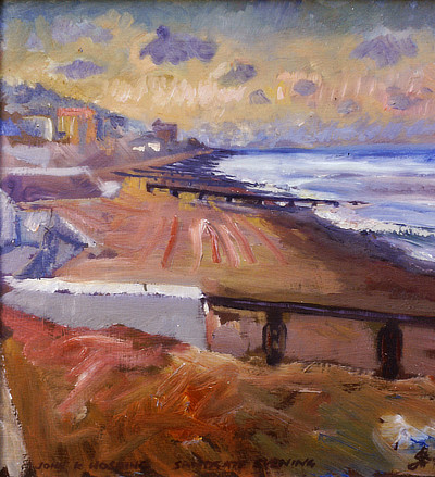 painting of Sandgate beach