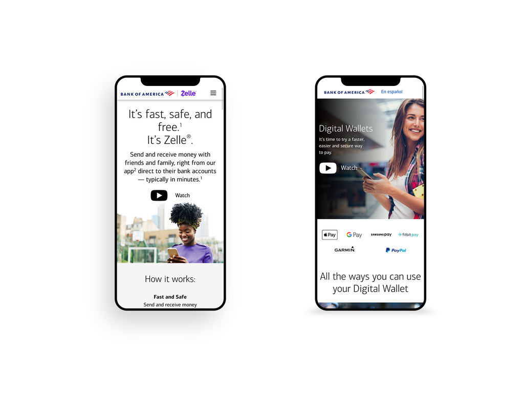 Zelle and Digital Wallets Screenshots