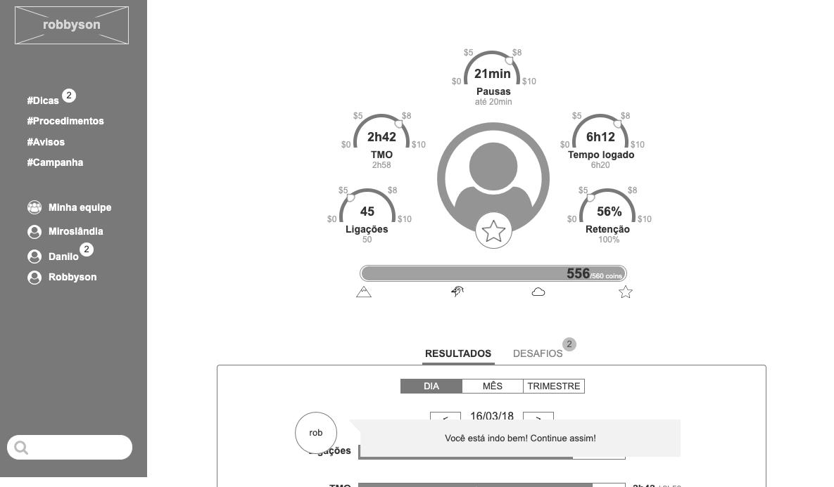 Imagem do wireframe da página inicial