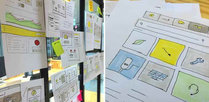 Wireframing the platform