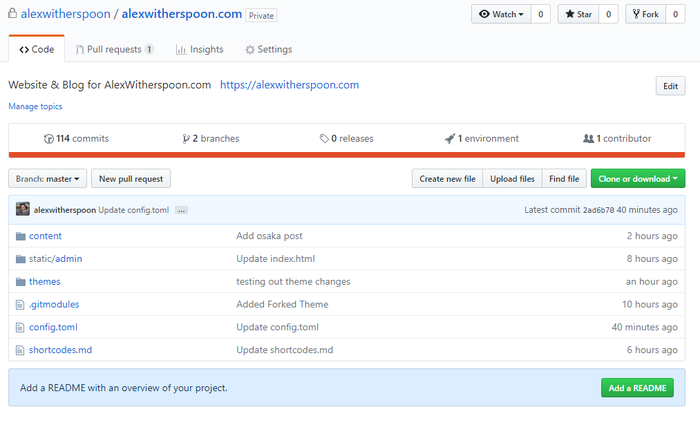 Github Repo with Content
