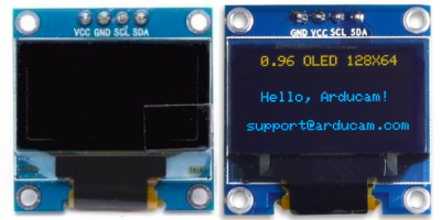 two types of SSD1306 OLED screen