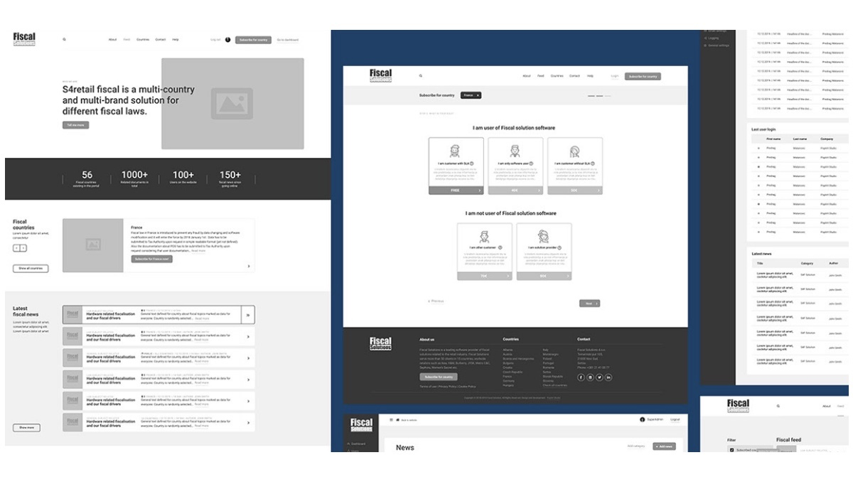 Mid wireframes