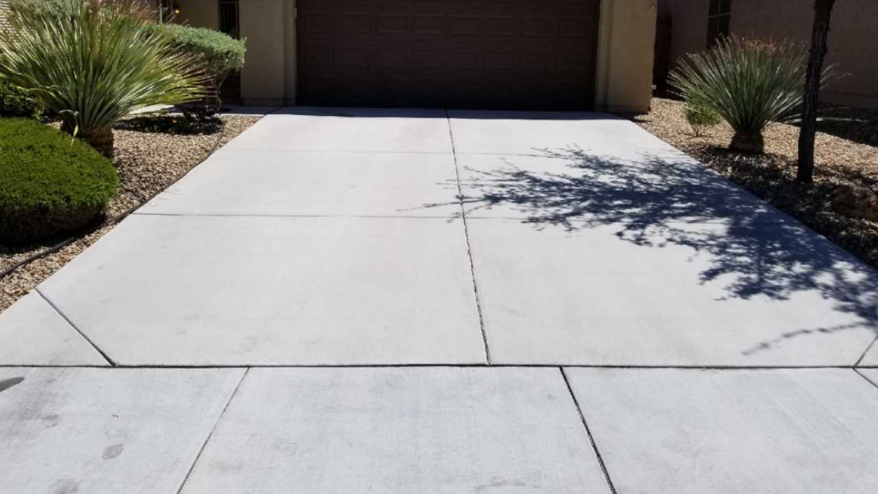Second driveway after cleaning