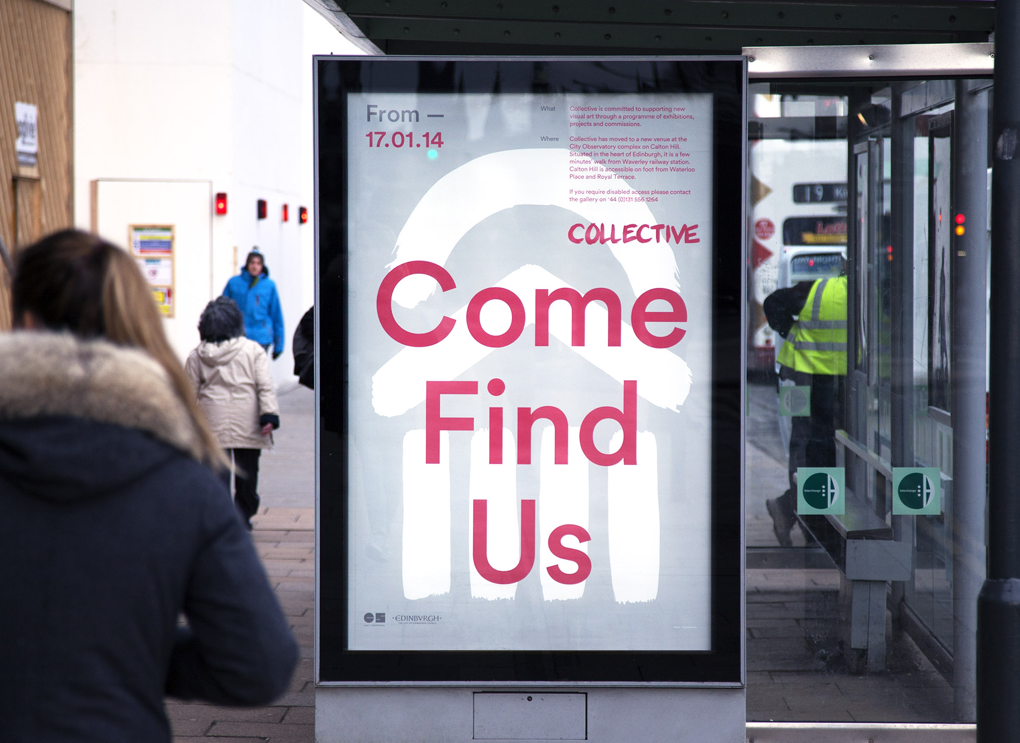 Poster for Collective Gallery 'Come Find Us'
