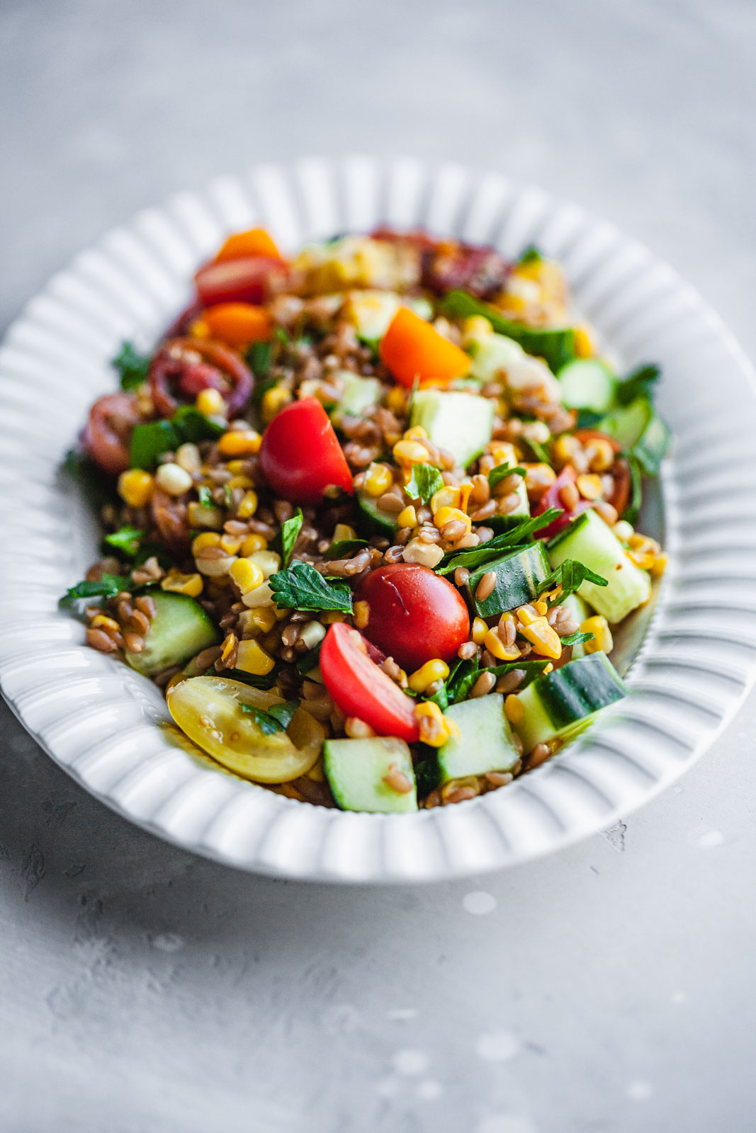 Skillet Corn With Farro Salad