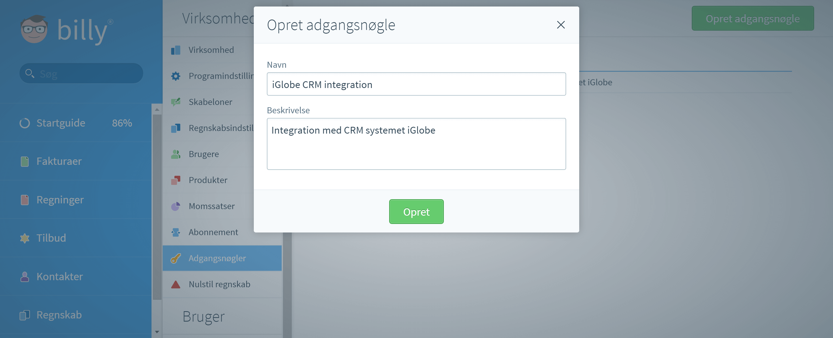 Integration med iGlobe CRM