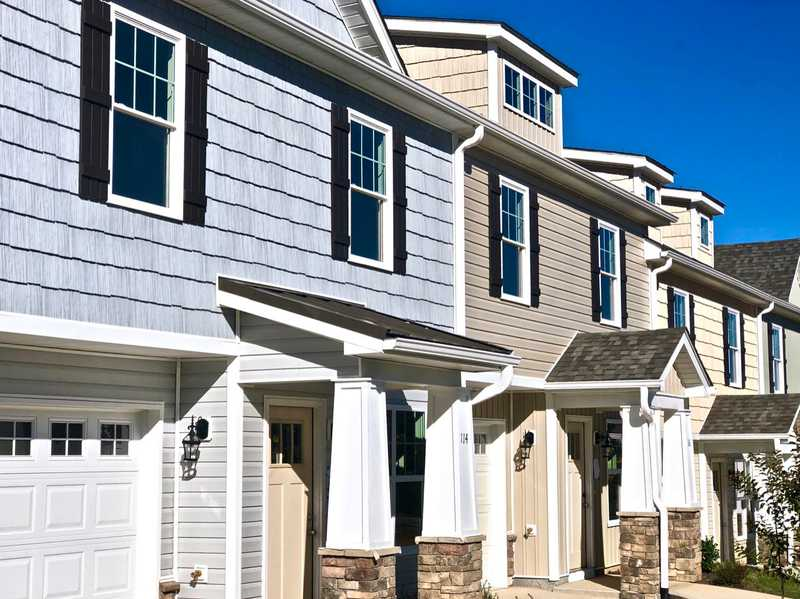 New homes for sale close to Clemson - The Falls at Meehan - townhome exteriors