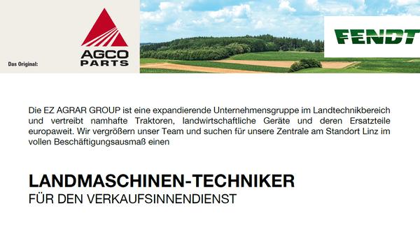 Landmaschinen Techniker für den Verkaufsinnendienst
