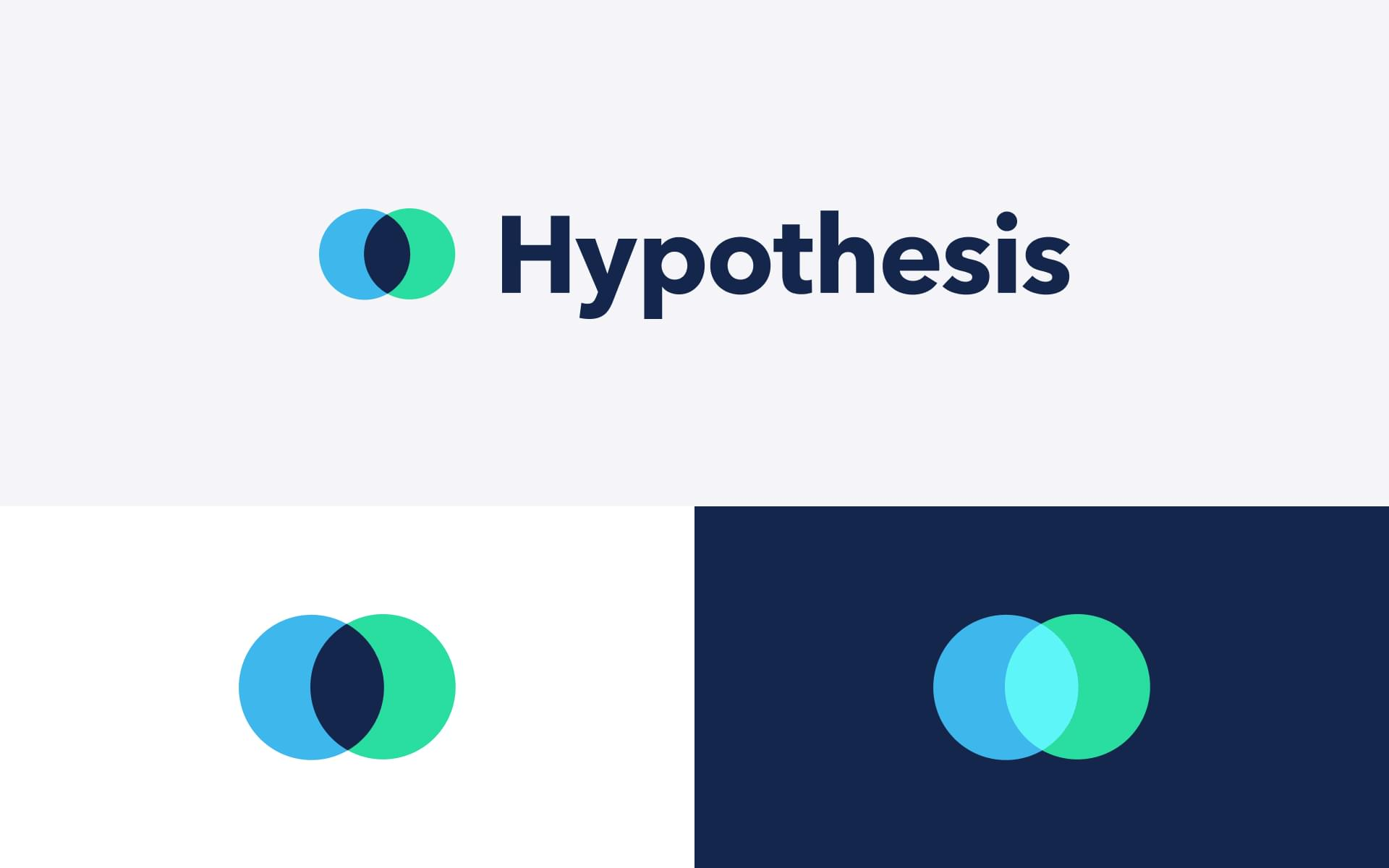 B2B SaaS logo design in different lockups and colorways