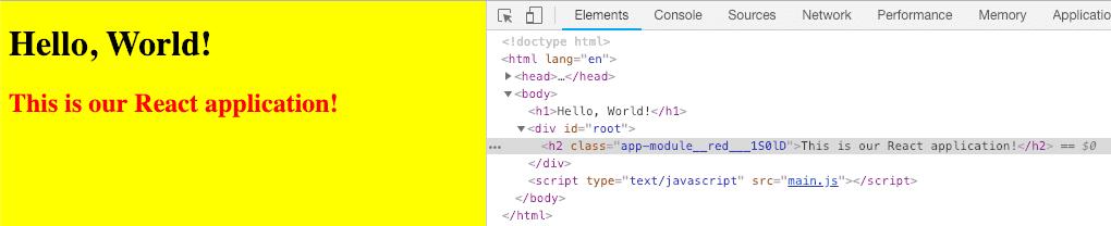 Webpack 4 CSS Modules