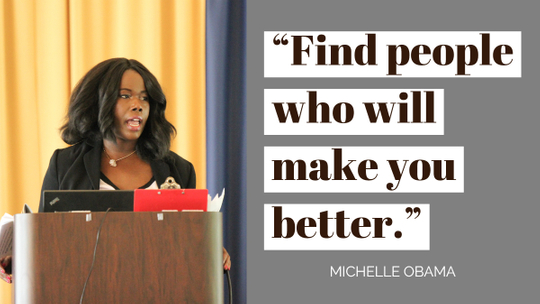 michelle obama quote find people who make you better.