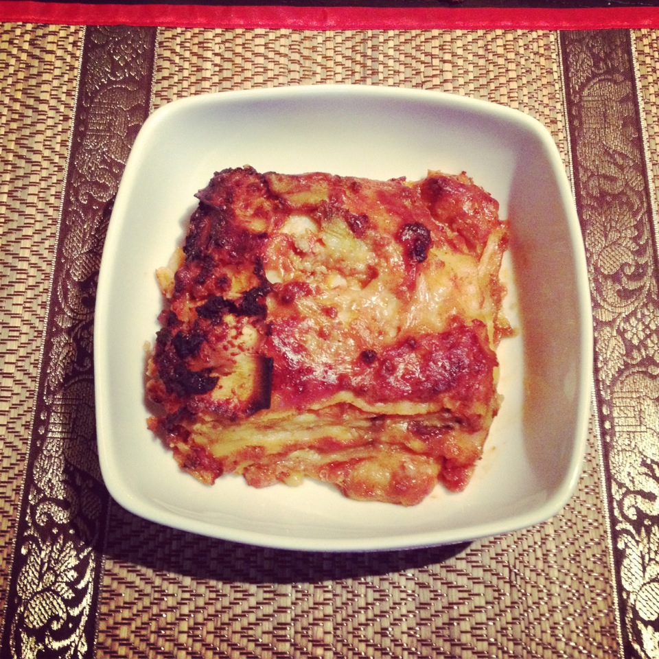 Lasagne, homemade