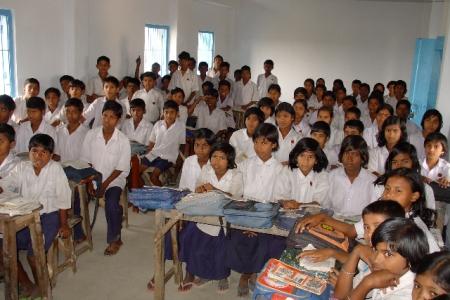 Klaslokaal in India