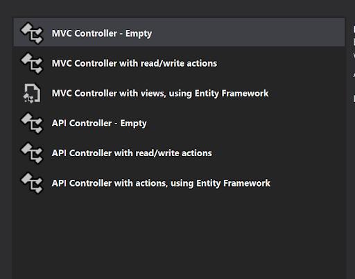 Add MVC Controller