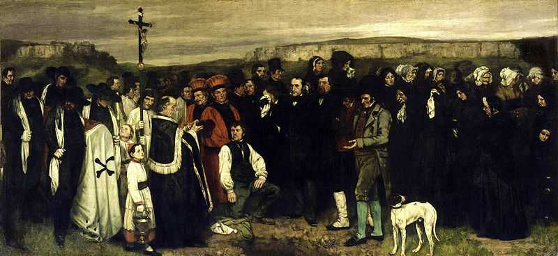'A Burial at Ornans' by Gustave Courbet, 1849–50, Musee d'Orsay, Paris
