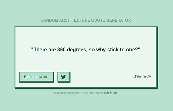JavaScript Architecture Quote Generator