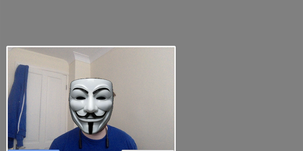 Vonage Video stream with a Guy Fawkes mask!