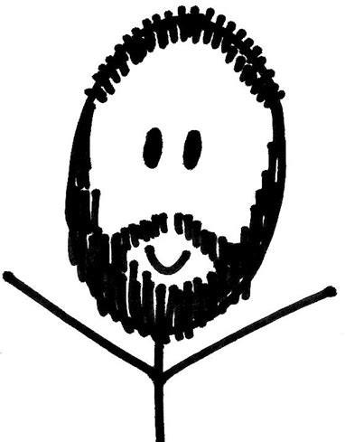 stick figure beard
