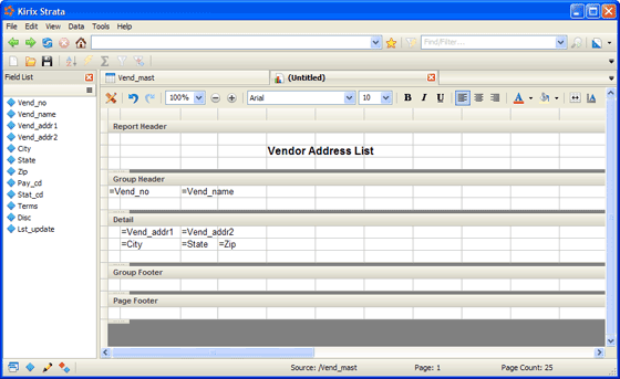 Screenshot - Report Writer