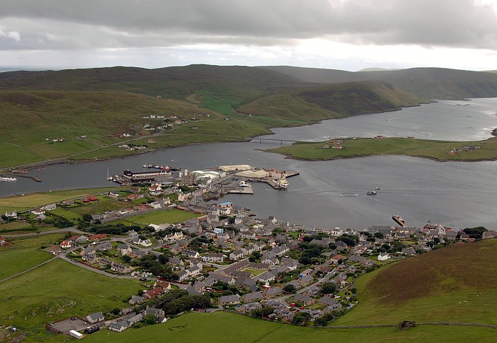 Aerial View of Scalloway