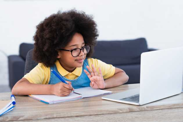 Child at school desk