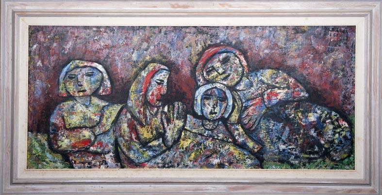 Mercedes Ruibal - oleo tabla - 60x130 cm · óleo/tabla