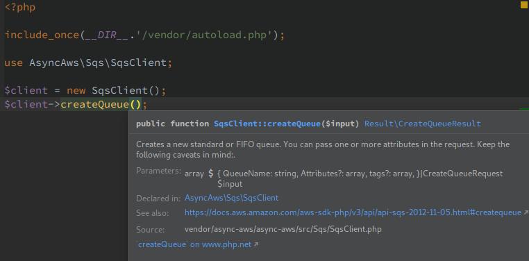 PHPStorm function help