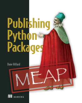 Book cover for Publishing Python Packages by Dane Hillard