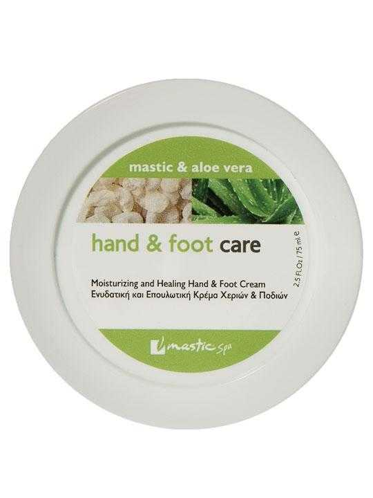 Hand and foot cream with aloe and mastic – 75ml