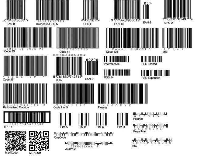 Barcode types - Choosing the right barcode: Code128, EAN, UPC, ITF-14 or  Code39