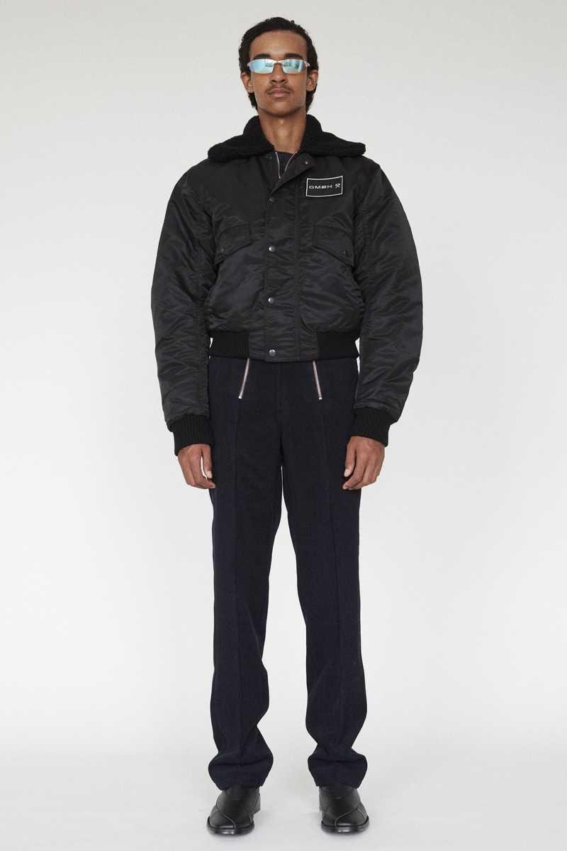 PREM GMBH AW19 PILOT JACKET BLACK FULL LOOK