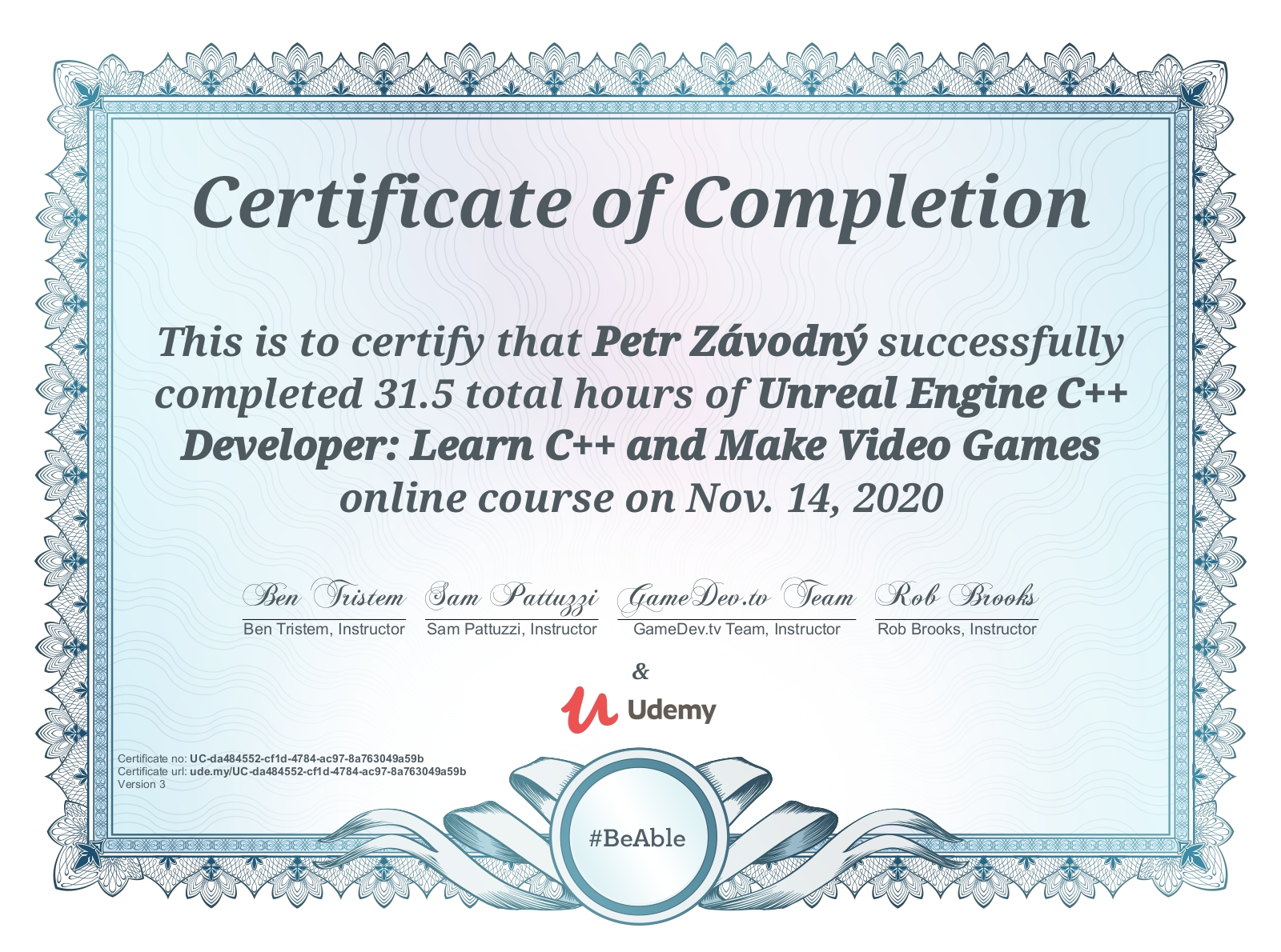 Dependency Injection Course Certificate