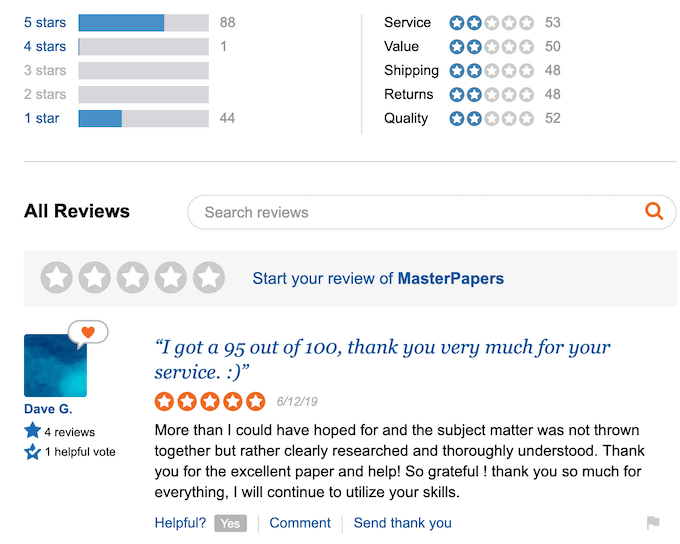 masterpapers.com reviews looks like fakes