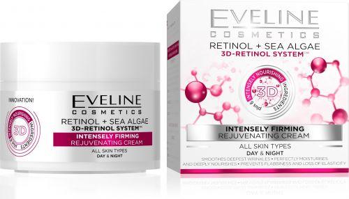 EVELINE 3D RETINOL intenzív feszesítő bőrfiatalító arckrém minden bőrtípusíra 50 ml