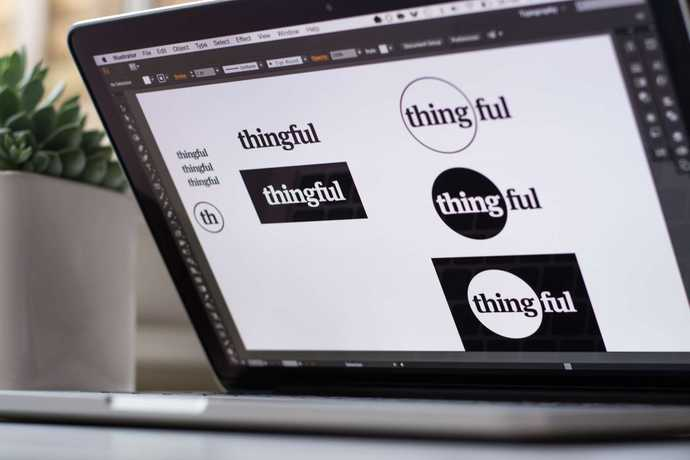 Working on the Thingful logo.