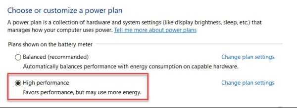 Change Power Options to Fix 100 Disk Usage Windows