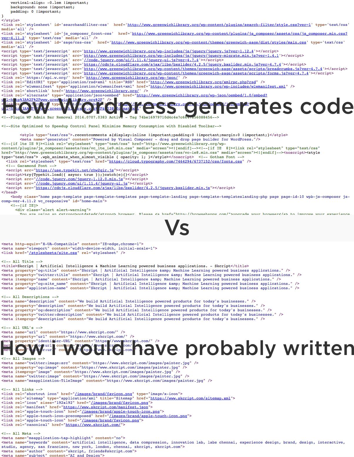 Wordpress code quality