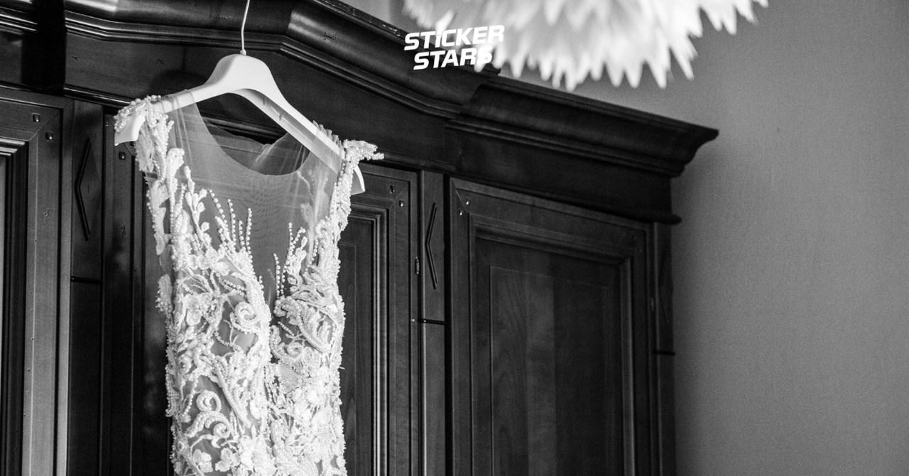 Hochzeitsfotos Ideen: Details des Brautkleids