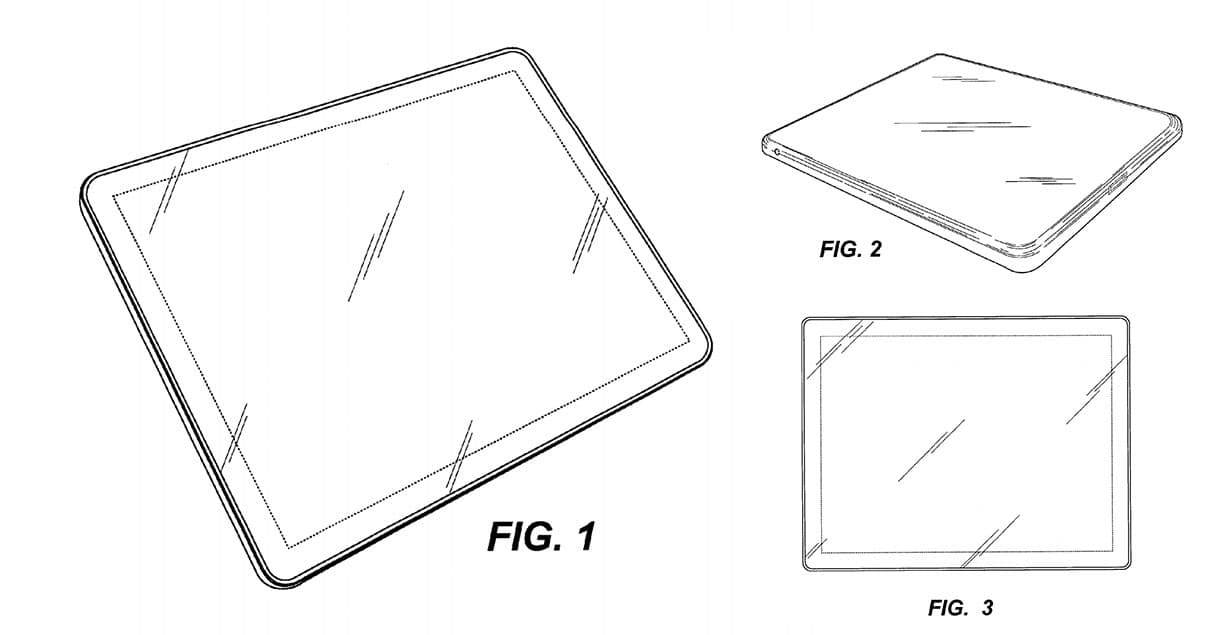 Apple's design patent for a device with rounded corners