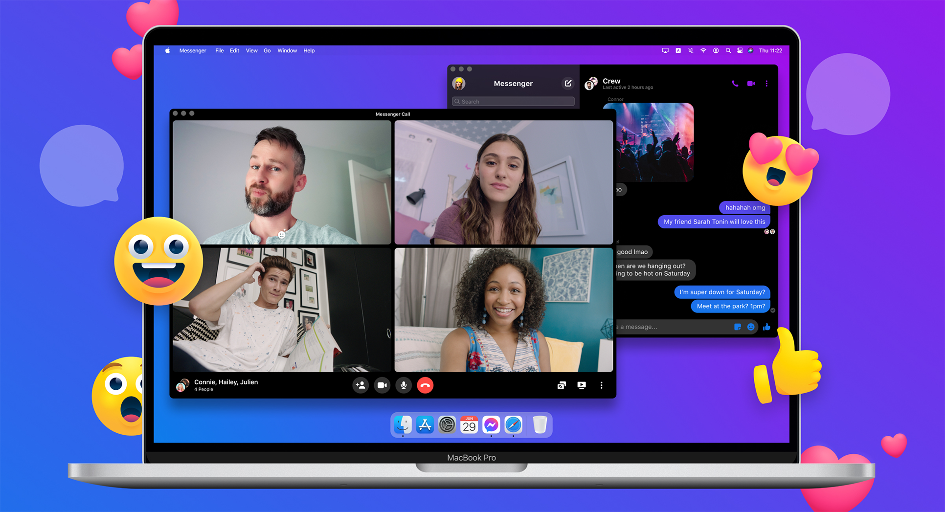 Screenshot of the Messenger app on macOS