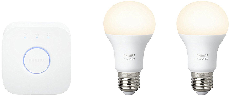 Kit de démarrage 2 ampoules Hue White + pont de connexion
