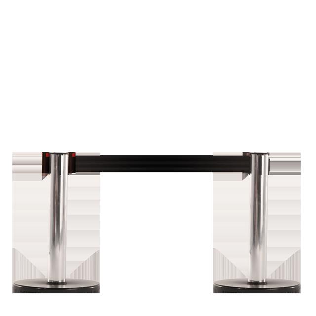 Pedestal em alumínio com acabamento cromado de 50 cm de altura.