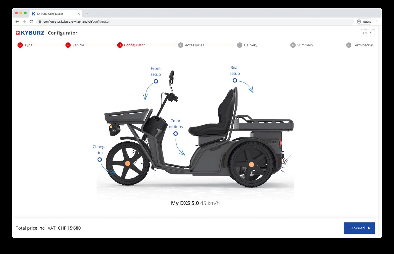 Produktkonfigurator für KYBURZ
