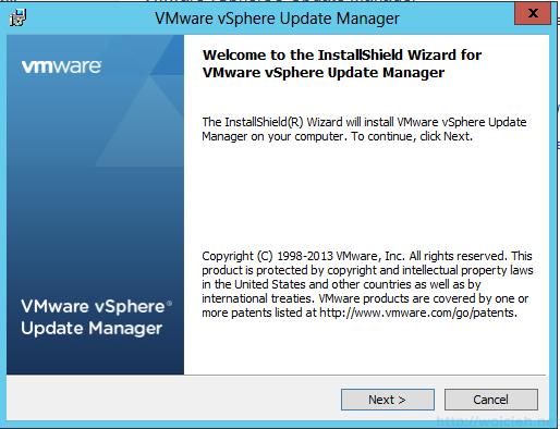 VMware vSphere Update Manager - Installation 1