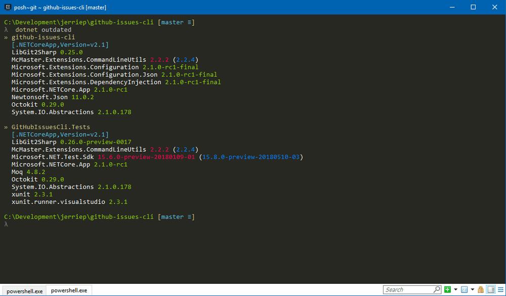 dotnet-outdated Screenshot